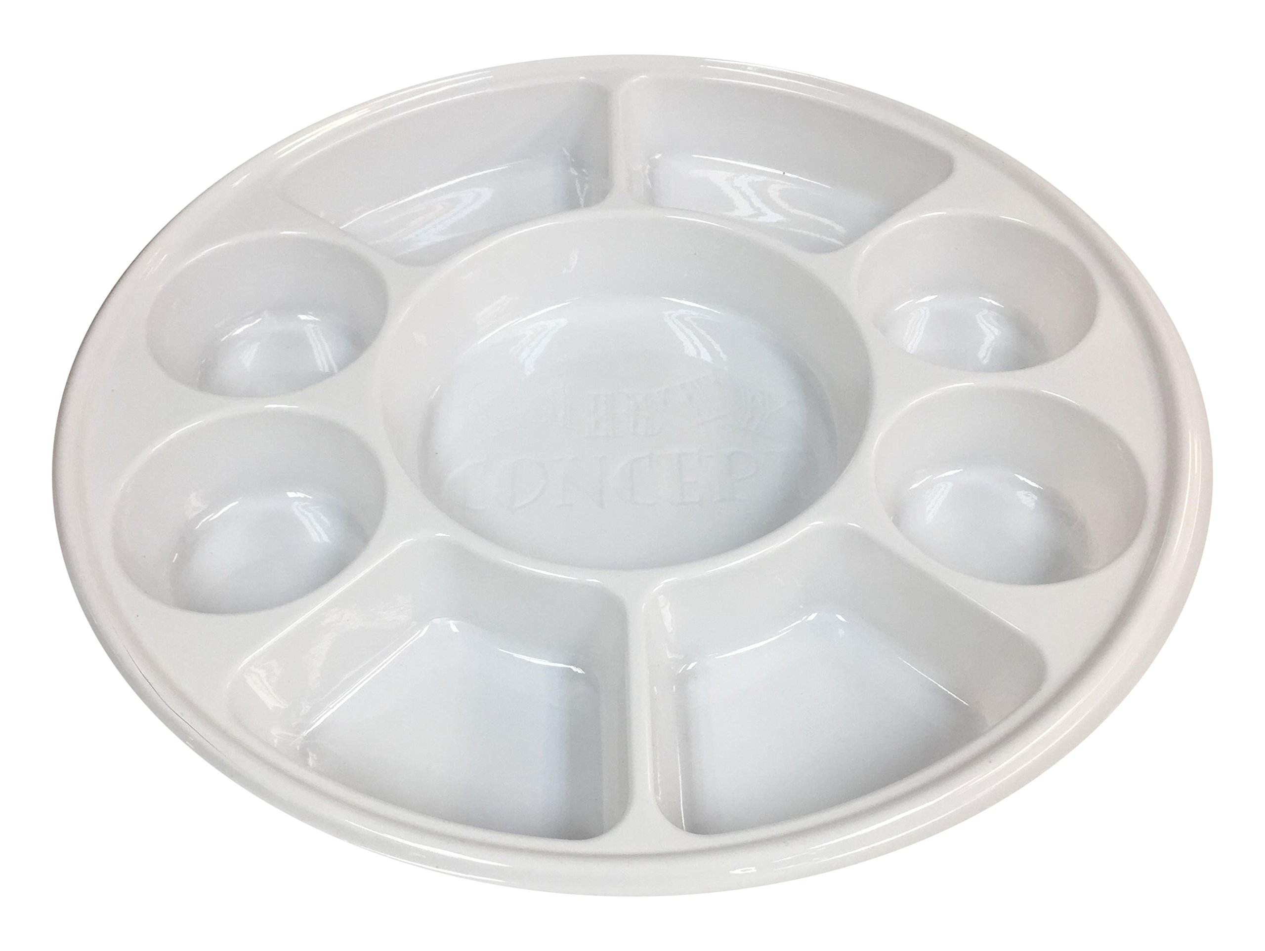 Movie Time Video 200 Piece Party Tray/Thali/Plates, Disposable 9 Compartments Round