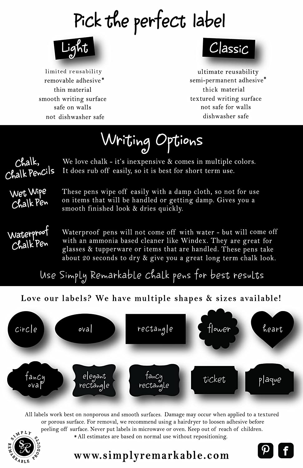 Decorating Crafts 18 Circle Shape 2.5 Adhesive Chalkboard Stickers W For Organizing Simply Remarkable Reusable Chalk Labels Can be Wiped Clean and Reused Light Material with Removable Adhesive and Smooth Writing Surface Personalized Hostess Gifts