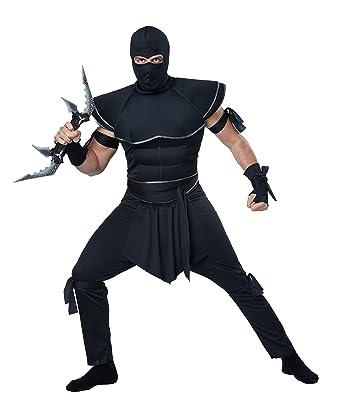 California Costumes Mens Stealth Ninja Costume, Black ...