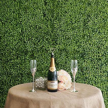 amazon com efavormart 4 pcs artificial faux boxwood wall mat