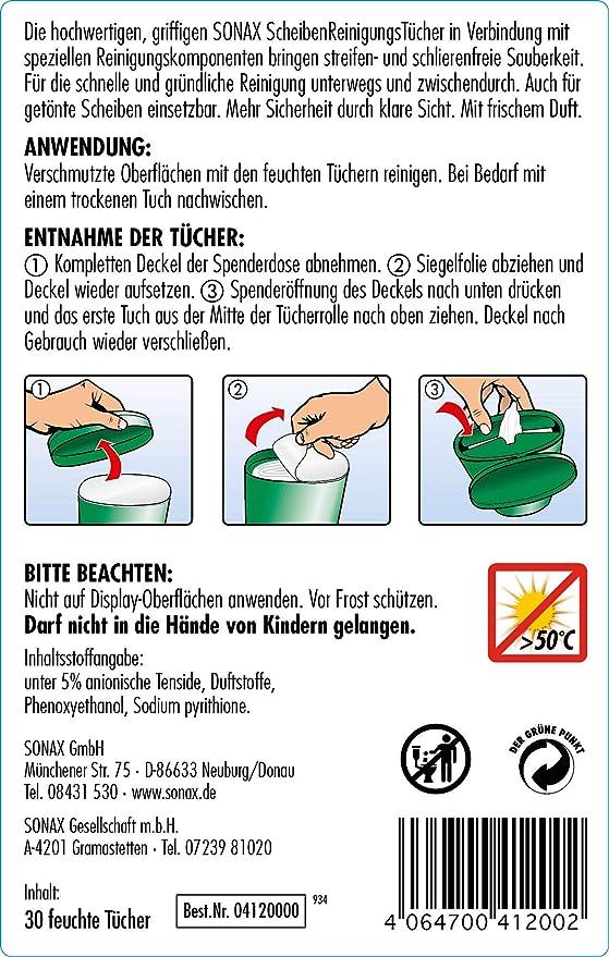 SONAX 04120000 SCHEIBENREINIGUNGSTÜCHER BOX 25 STÜCK