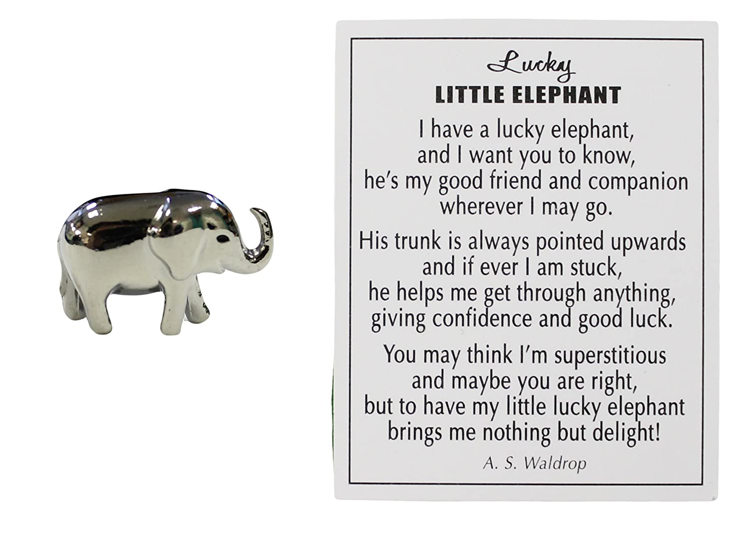 Amazon lucky little elephant charm with story card home amazon lucky little elephant charm with story card home kitchen biocorpaavc