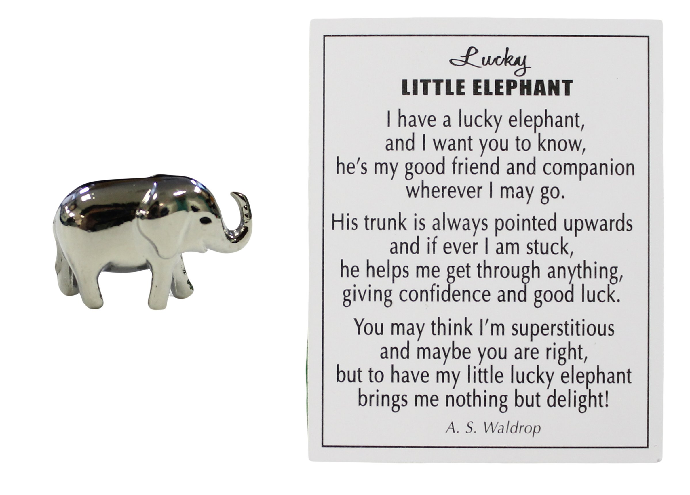 Amazon Lucky Little Elephant Charm With Story Card Home Kitchen