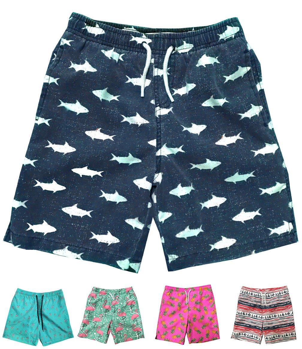 INGEAR Little Boys Quick Dry Beach Board Shorts Swim Trunk Swimsuit Beach Shorts with Mesh Lining