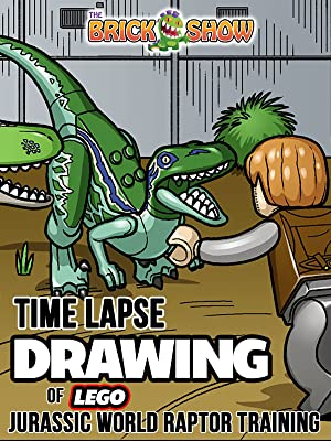amazon com clip time lapse drawing of lego jurassic world raptor