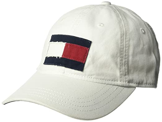 bd4bc089bbddc8 Amazon.com  Tommy Hilfiger Men s Dad Hat Tommy Flag Cap