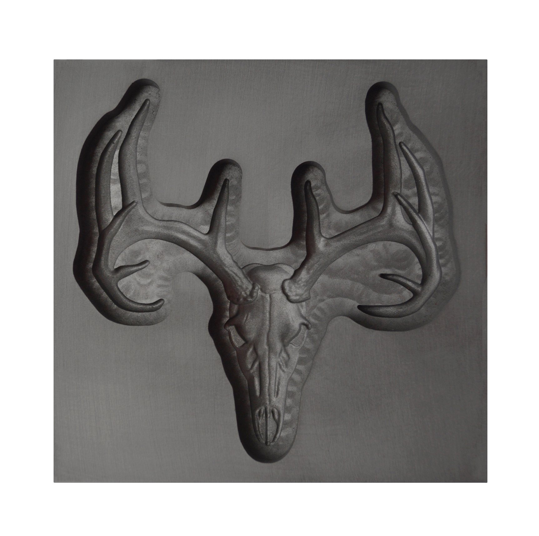 Large - Deer Skull 3D Graphite Ingot Mold for Precious Metal Casting Gold Silver Copper Melting by PMC Supplies LLC