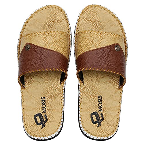 5d9c9b1f71e1 UrbanWhiz Emosis Men Tan Brown Black Colour Casual Ethnic Formal Office  Slide Slipper Sandal  Buy Online at Low Prices in India - Amazon.in