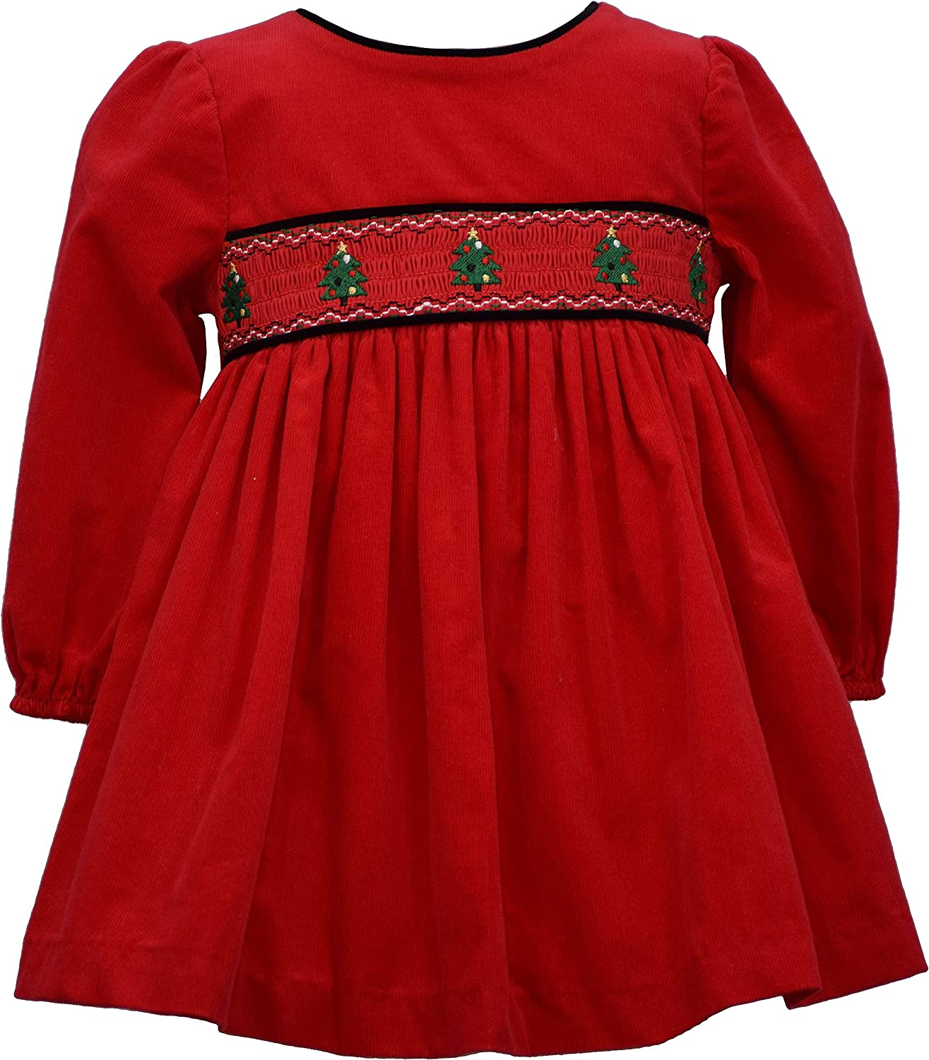 Bonnie Jean specialty shop Baby Girl's Holiday Christmas Smocked Selling and selling Dress Red Co -