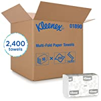 Kleenex Multifold Paper Towels (01890), White, 16 Packs / Case, 150 Tri Fold Paper...