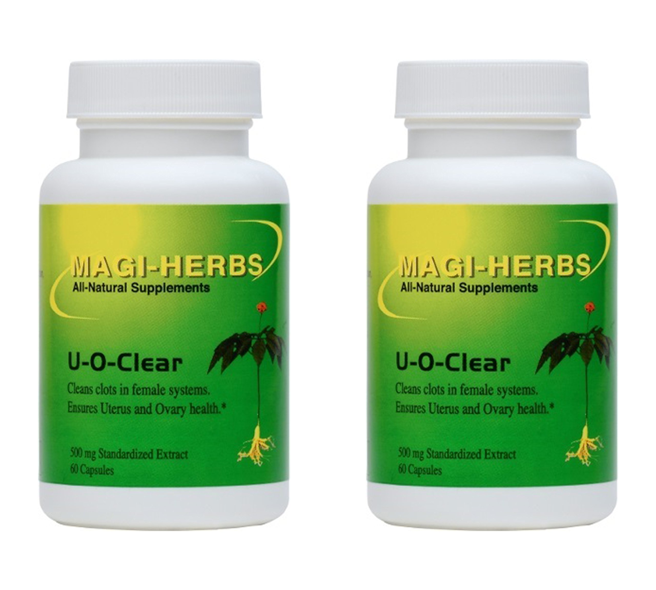 Amazon Com U O Clear Assure Ovary Uterus Health 500 Mg 60