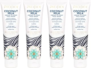 product image for Pacifica Coconut milk cream to foam wash 5 Fl Oz,Pack of 4