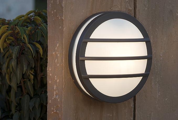 Beleuchtung Eco Light Moderne Außenwandleuchte Seine Rund E27 Ip54 Anthrazit 3361 Gr