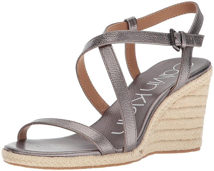 ba83b96b3 Amazon.com  Calvin Klein Women s Bellemine Espadrille Wedge Sandal  Shoes