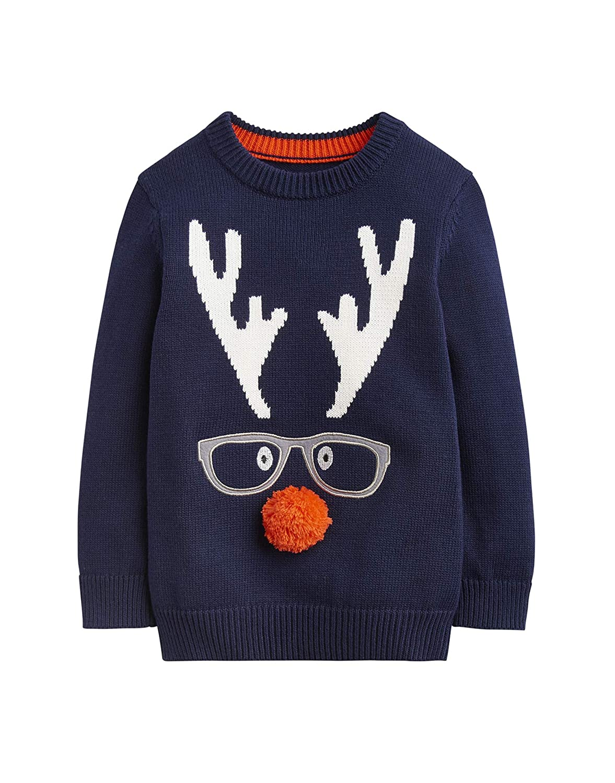 Joules Festive Sweater - Navy Rudolf