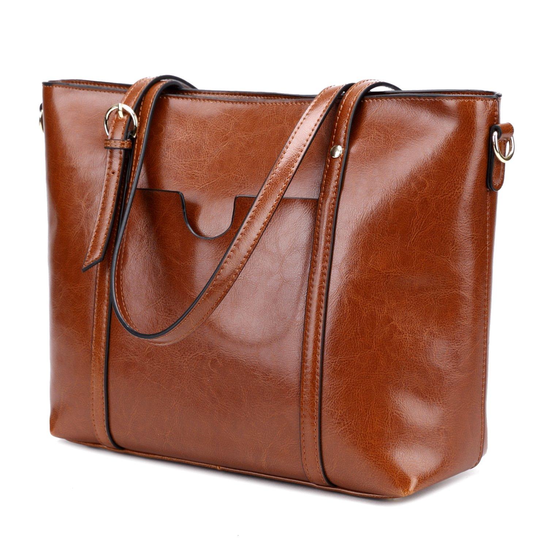 0dc7f92a09d CLELO Women's Tote Bag, Genuine Leather Purse Handbag Shoulder Bag