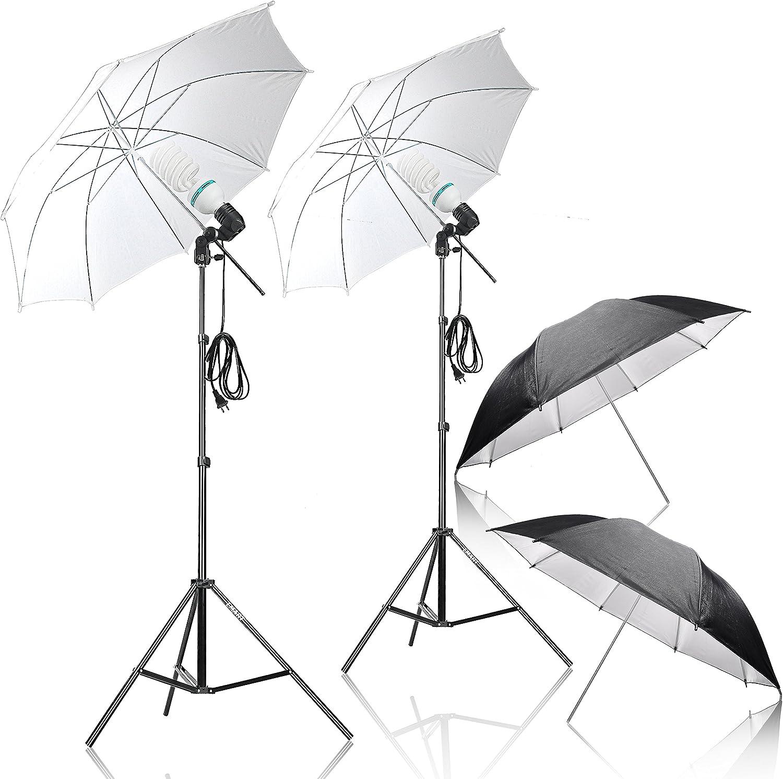 Amazon.com : Emart Umbrella Lighting Kit for Photography, 1000w, 5500k  Daylight Umbrella Continuous Lighting, Professional Lighting for Video :  Camera & Photo
