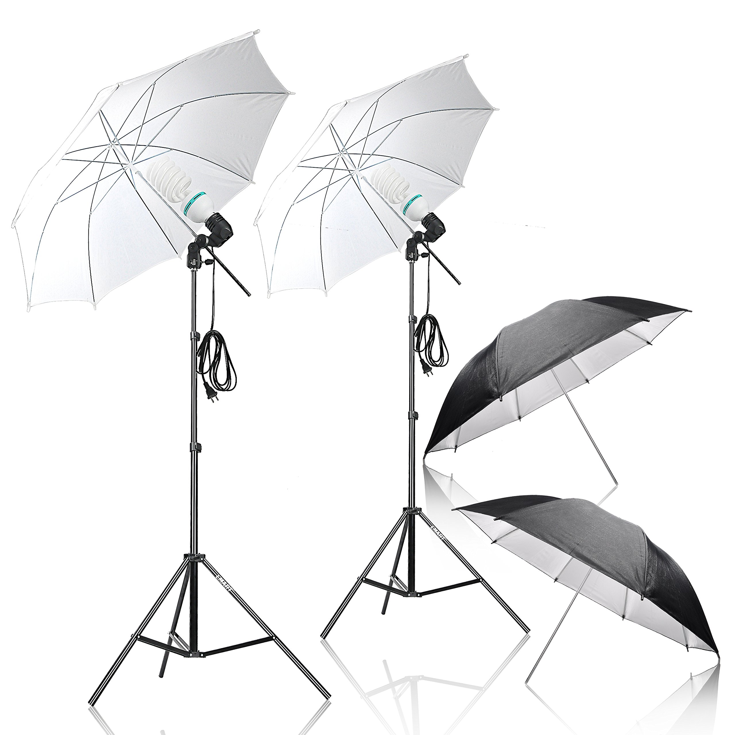 Emart Umbrella Lighting Kit for Photography, 1000w, 5500k Daylight Umbrella Continuous Lighting, Professional Lighting for Video by EMART