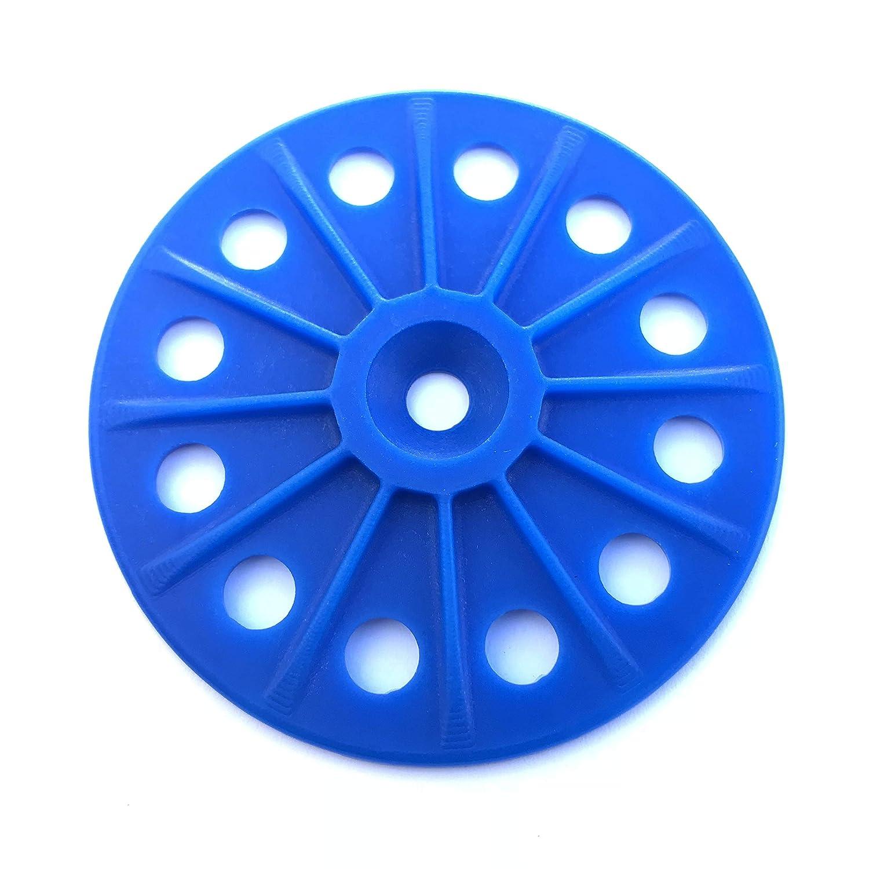 blanc bleu 60 mm 300 pcs Rondelles renforc/ées avec 30 /% de fibre de verre pour la fixation de panneaux isolants rigides