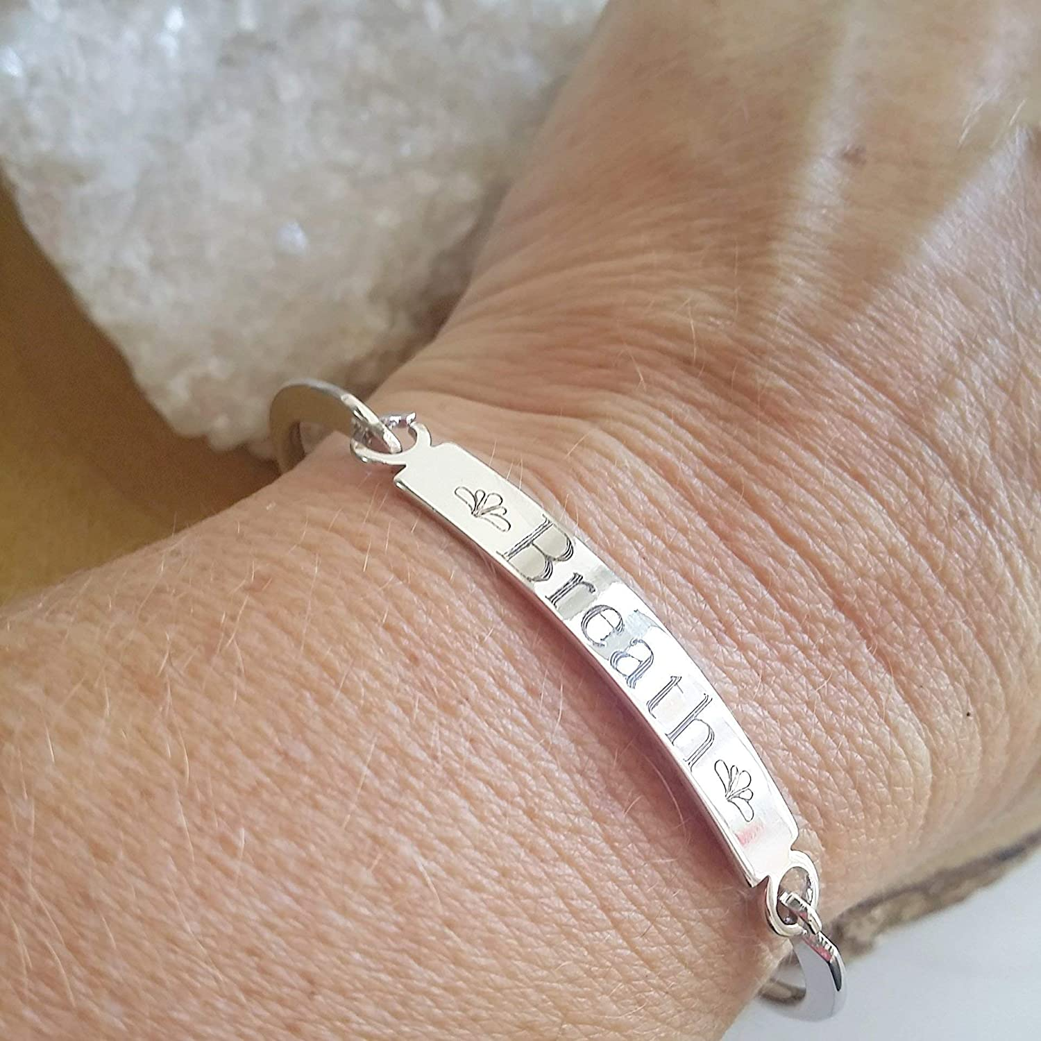 Personalized bracelet silver cuff bracelet, handwriting jewelry handwriting bracelet quote bracelet personalized quote memorial gift