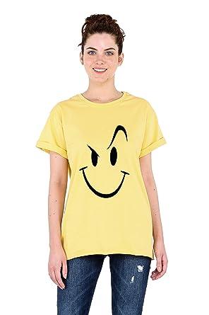 ba5f574df Bewakoof Women s Cotton Printed Boyfriend T-Shirts Yellow X-Small 112281