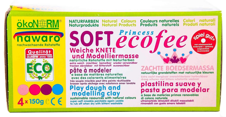 weiche Kinder Knete ökoNORM nawaro Soft-Knete Set A Rot, Gelb, Blau, Grün