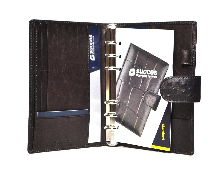 Succes Struzzo Struzzo Struzzo Standard Braun Organiser A6 Ringbuch Straußenoptik Leder PT256SZ01 B01N47VXUG   Neu  6607ed