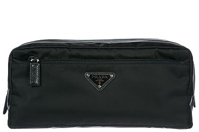 Prada men s Nylon travel toiletries beauty case wash bag black ... 66539a187d