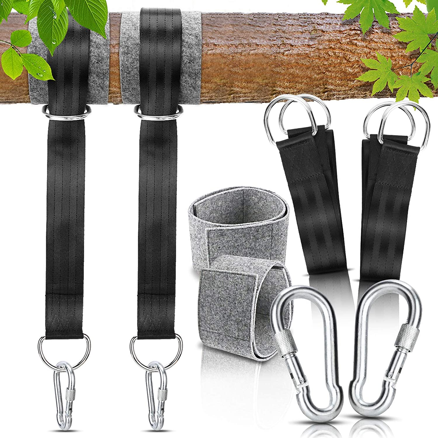 Details about  /5x150cm Outdoor Hammock Strap Children Swing Rope Lengthen Safety Device