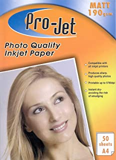 MULTI BUY DISCOUNTS PRO-JET A4 PHOTO PAPER 20 SHEETS 135GSM GLOSS FINISH