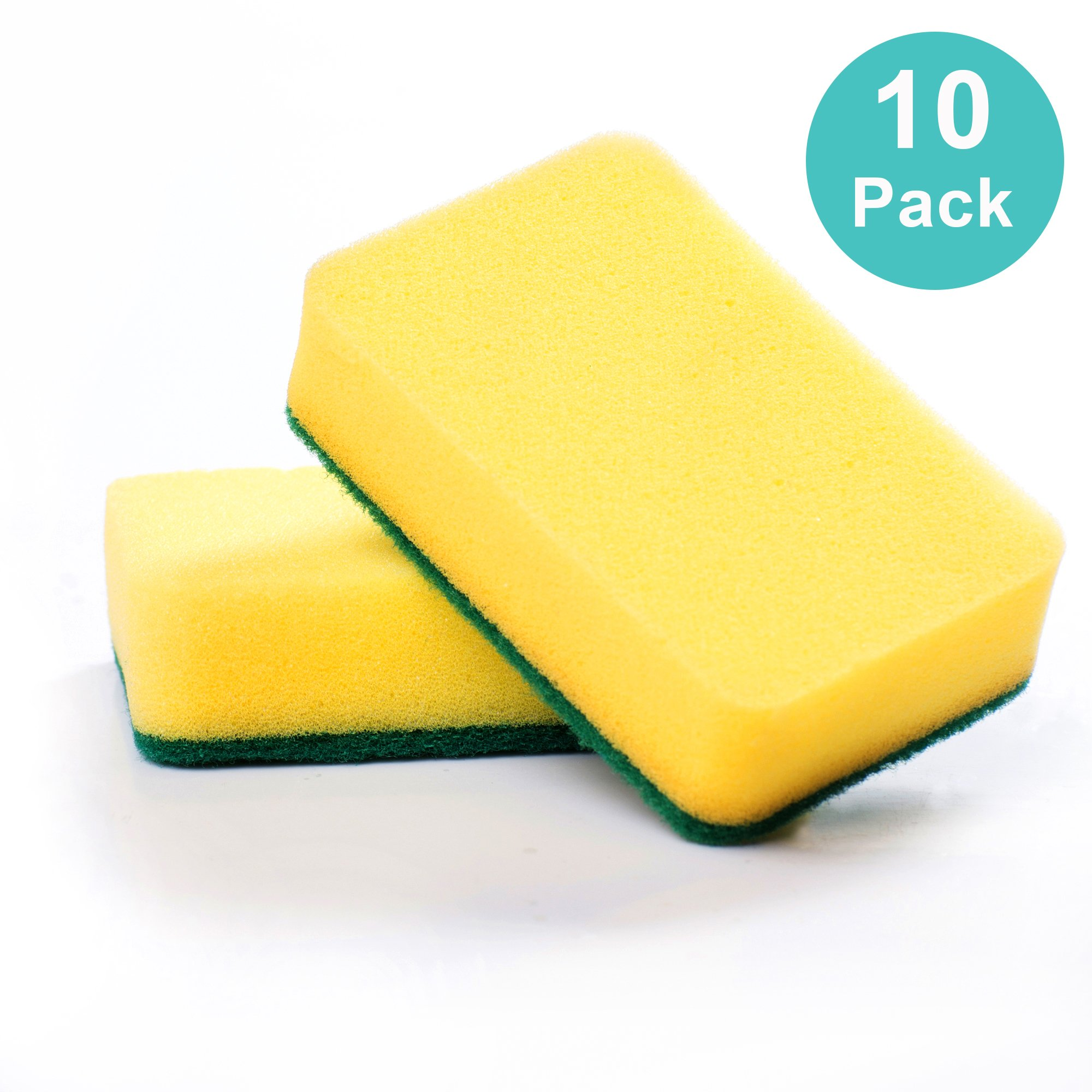 Kitchen sponge scratch free, great cleaning scourer (included pack of 10)