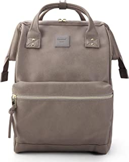Kah&Kee Leather Backpack Diaper Bag with Laptop Compartment Travel School for Women Man (Mint Green)