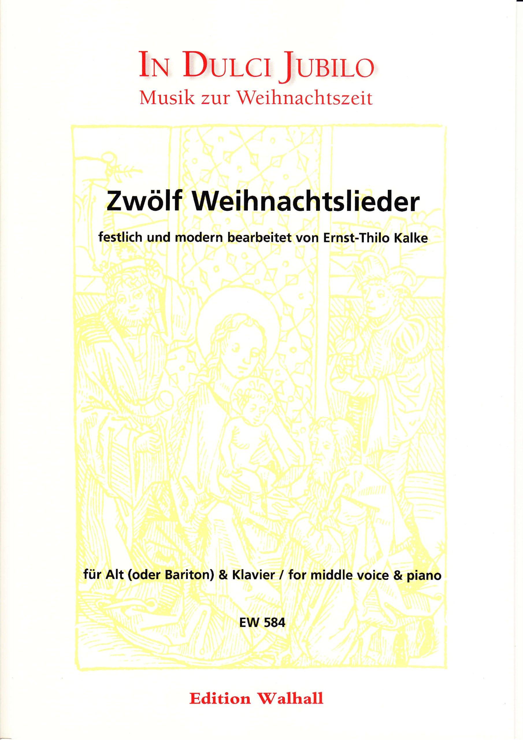 Zwölf Weihnachtslieder festlich und modern bearbeitet für Alt ...