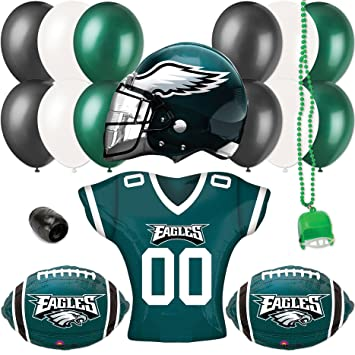 40cbe456106 Image Unavailable. Image not available for. Color: Philadelphia Eagles  Helmet & Jersey Football Party 17pc Balloon Pack