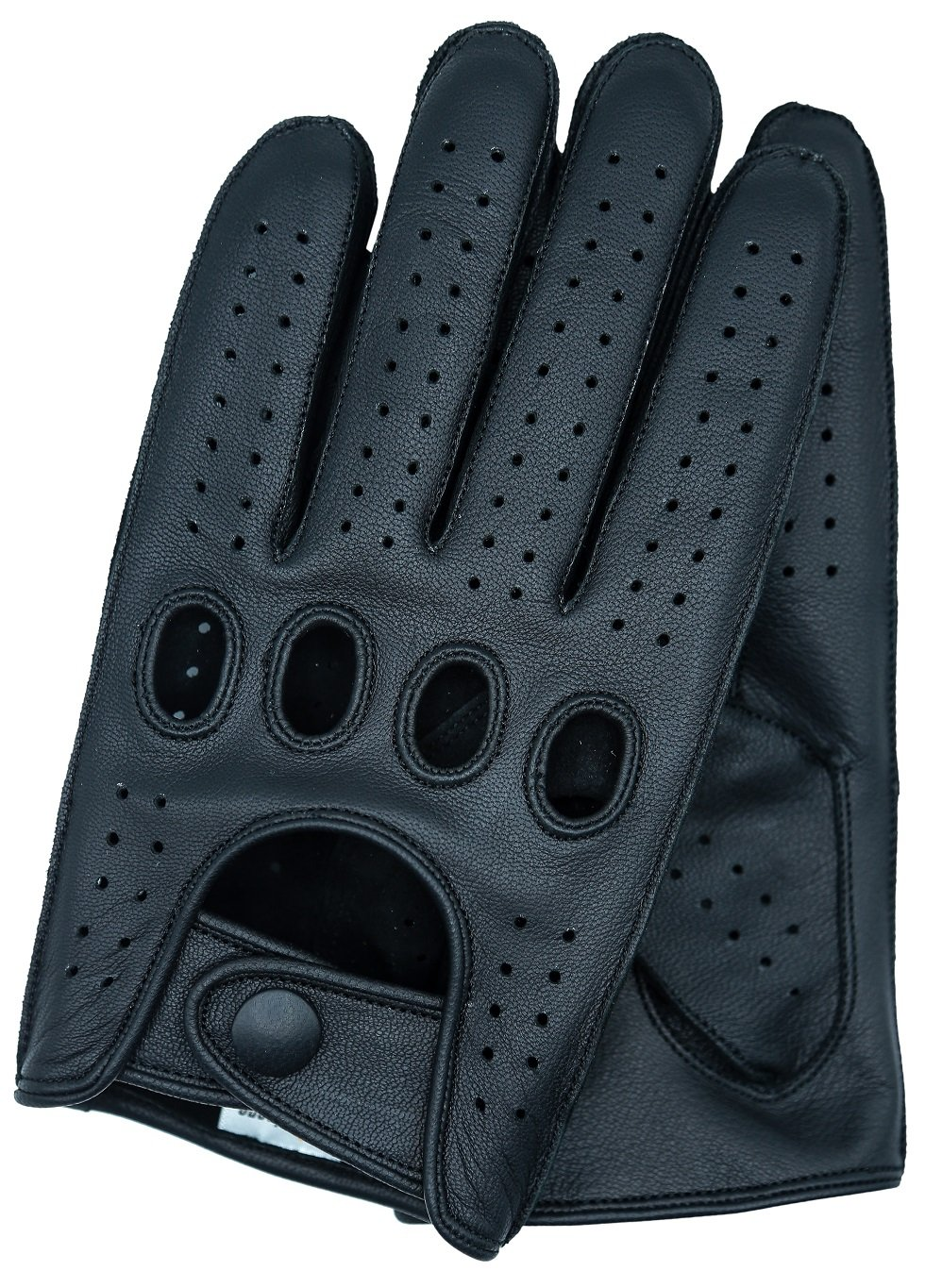 Riparo Men's Reverse Stitched Touchscreen Texting Leather Driving Gloves (Large, Black)