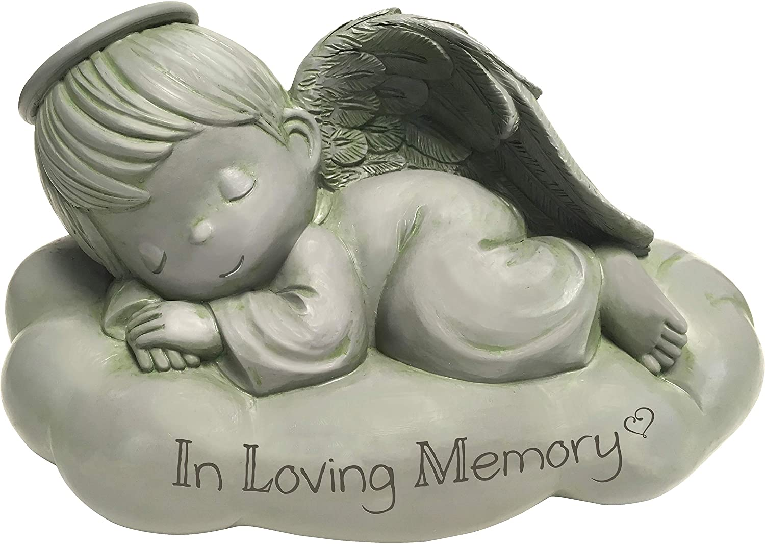 Precious Moments Sleeping Angel in Loving Memorial Resin Garden 183441 Stone, One Size, Multi