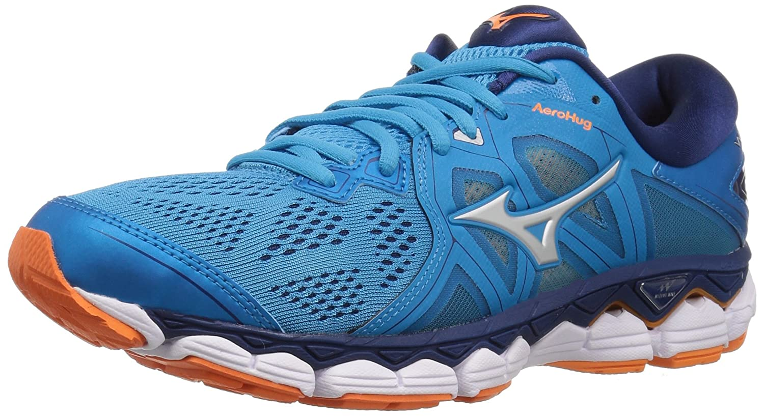 Mizuno Women's Wave Sky 2 Running Shoe B076YLBW1M 10 B(M) US|Hawaiian Ocearn/Birds of Paradise