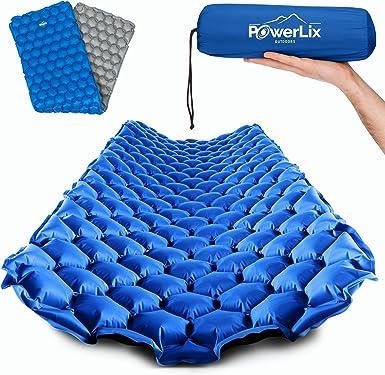 MLMLANT Self-Inflating Camping Sleeping Pad with Foot Pump Pillow Pad Waterproof Durable Camping Air Mattress Lights