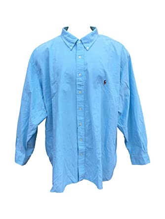 0a1e127f8 Image Unavailable. Image not available for. Color: RALPH LAUREN Men's Big  and Tall Long Sleeve Button up Dress Shirt(Aegean ...