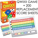 Qwixx [Expansion Bundle] - A Fast Family Dice Game + Includes 200 Quixx Replacement Score Cards / Sheets