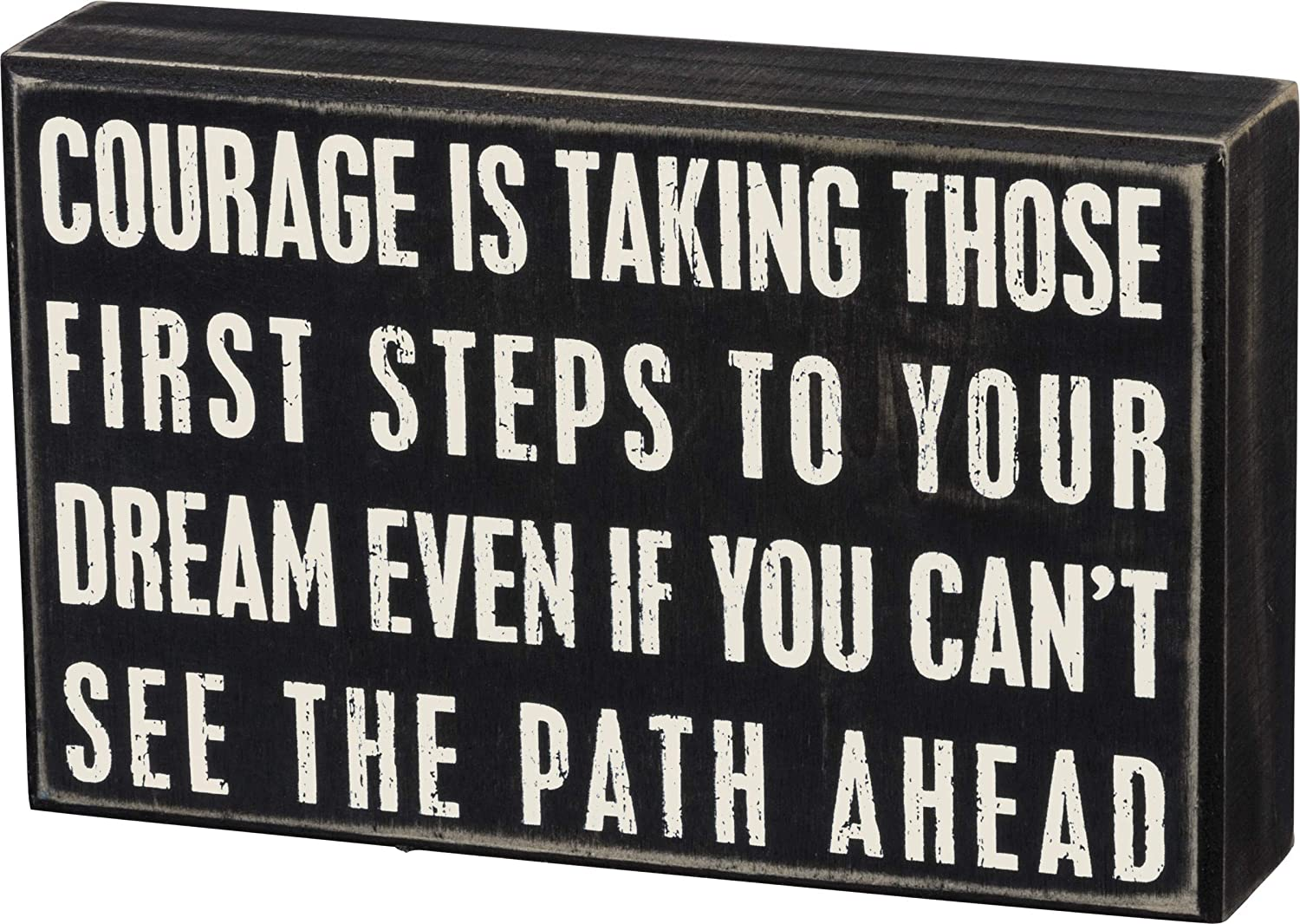 """Primitives by Kathy 18759 Box Sign, 8"""" x 5"""", Courage Is"""