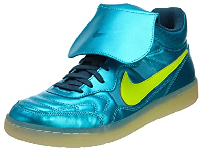 53e9f88d63a0 Nike Mens NSW Tiempo '94 Mid HP QS Mercurial Space Blue/Volt Leather  Athletic