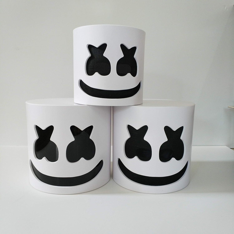 Puruitai Máscara de Marshmallow, máscara electrónica de DJ para ...