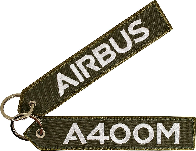 Airbus Schlüsselanhänger A400m Oliv Gestickte Weiße Schrift Ca 16 X 3 0 Cm De Händler Auto