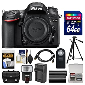 Amazon.com: Nikon D7200 WiFi cuerpo de la cámara SLR digital ...