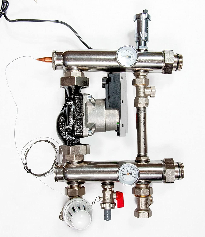 Festwertregelset f/ür Fu/ßbodenheizung mit Pumpe OMI Pumpengruppe TOP PREIS