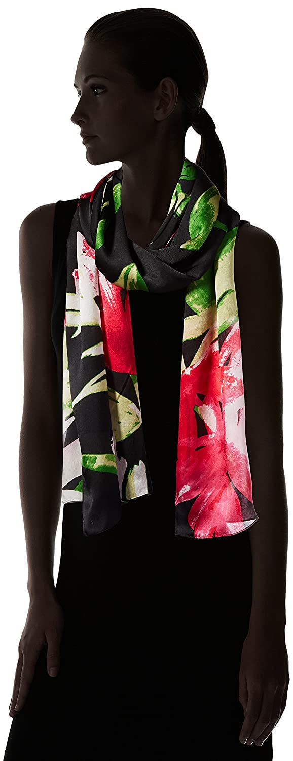 Vince Camuto Womens Bold Strokes Silk Oblong