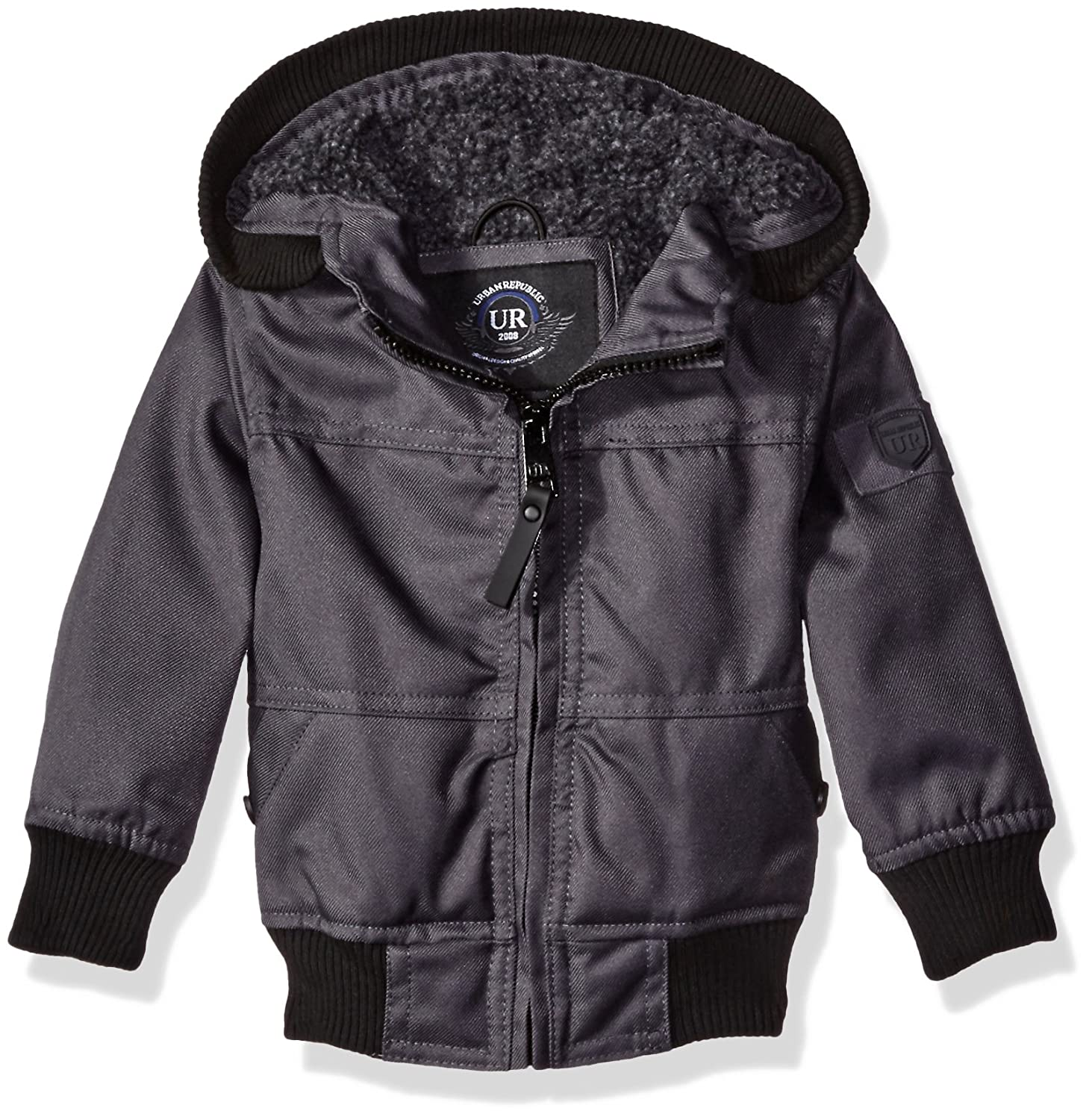 3ebc4631c Urban Republic Baby Boys' Infant Basllistic Bomber Jacket with Sherpa Lining,  Black, 18 Months: Amazon.in: Clothing & Accessories