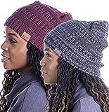 Beautifully Warm Women's Winter Hat | Slouchy Beanie Satin Lined Hat for Women
