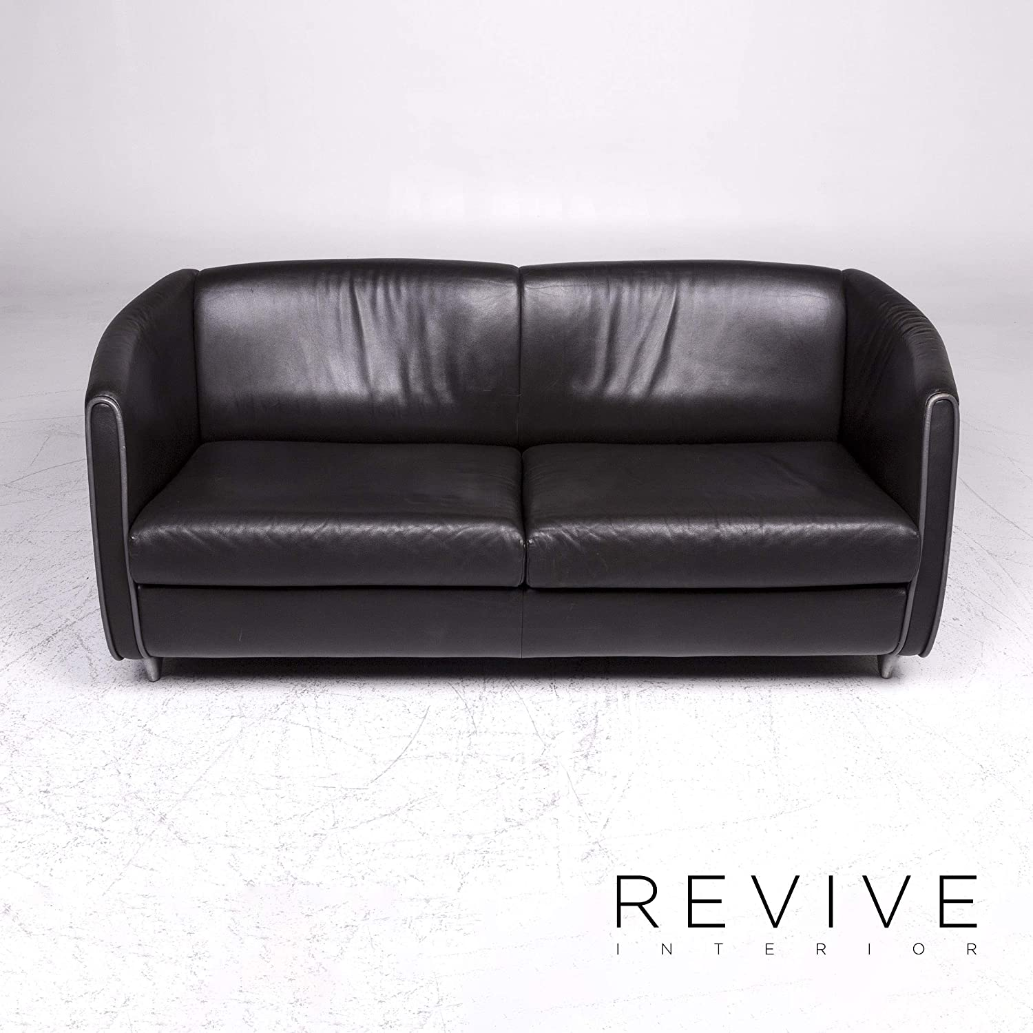 de Sede Leather Sofa Black Two-Seater Couch: / SANAA: Amazon ...